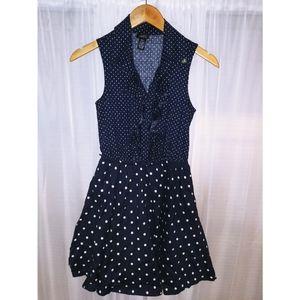 Rue 21 blue and white A-line dress